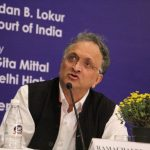 "Historian Ram Guha speaking at the 23rd Justice Sunanda Bhandare Memorial Lecture on the topic ""Patriotism vs Jingoism"" at the India International Centre on Wednesday (November 1). Photo: Bhavana Gaur"