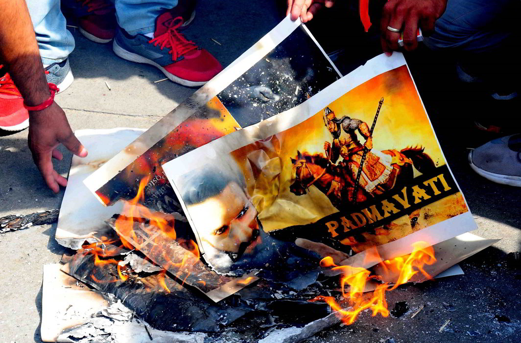 Karni Sena has been staging violent protests against the release of Padmavati. Photo: UNI