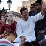 Congress vice president Rahul Gandhi during roadshow (file picture). Photo: UNI