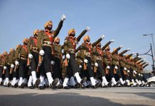 Army parade at Rajpath, New Delhi