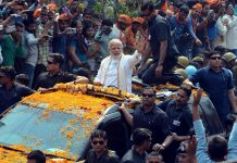 Prime Minister Narendra Modi vacated his Vadodara seat in favour of Varanasi following his election from both constituencies in 2014. Photo: UNI