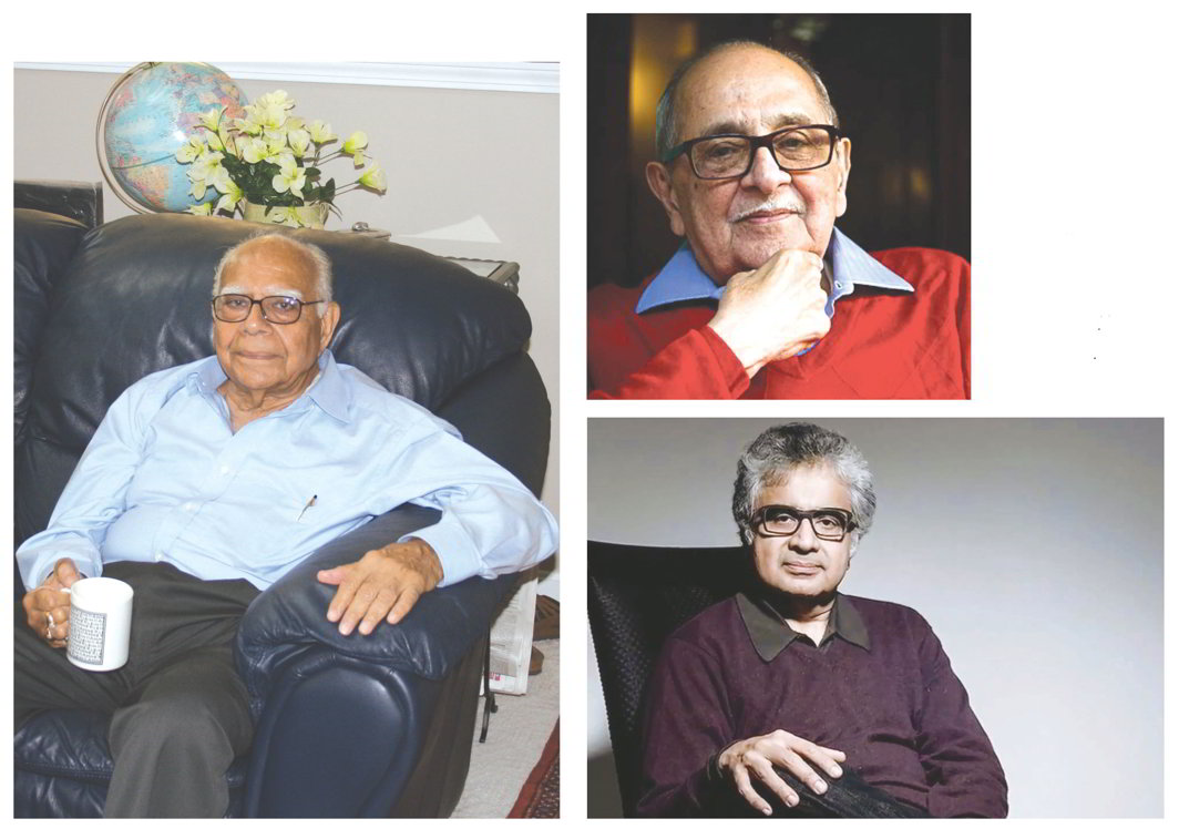 (Clockwise from extreme left) Senior lawyers Ram Jethmalani, Fali S Nariman and Harish Salve occupy the top spots when it comes to fees charged