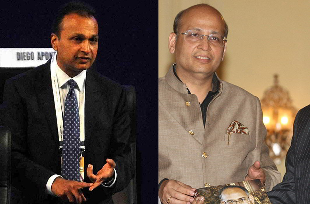 (Left) Anil Ambani and Abhishek Manu Singhvi