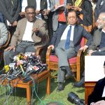 (L-R) Justice Kurian Joseph, Justice Jasti Chelameswar, Justice Ranjan Gogoi and Justice Madan B Lokur addressing a press conference in New Delhi/Photo: UNI; (inset) CJI Dipak Misra
