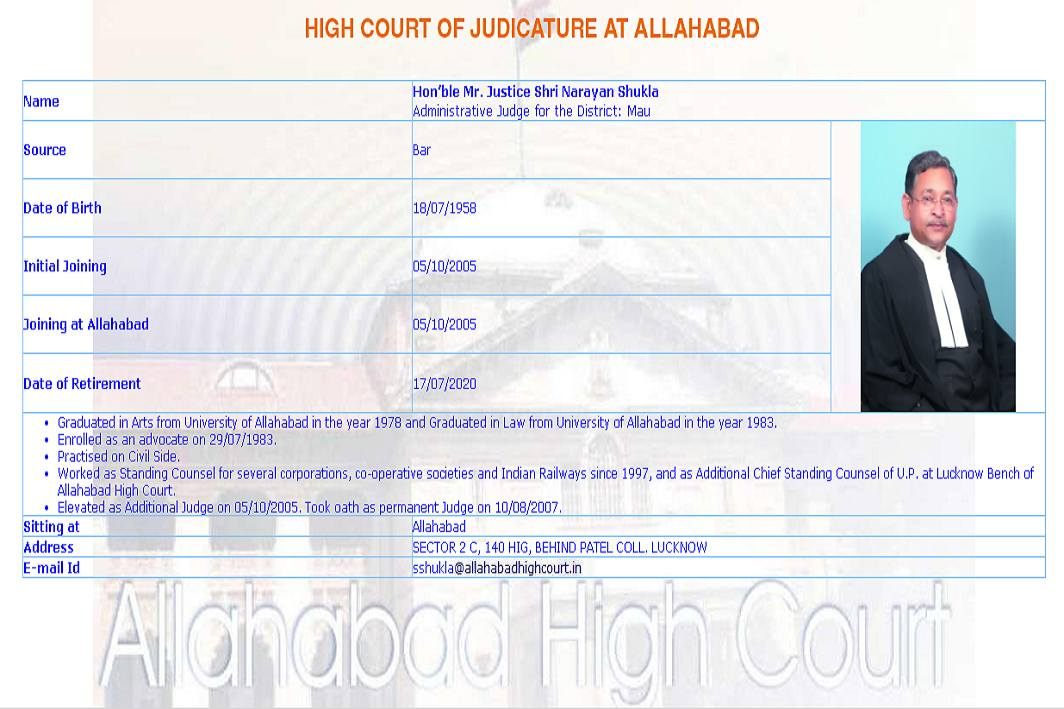 Medical admission scam: No judicial work for Allahabad HC judge