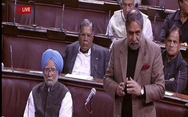 Congress leader Anand Sharma arguing against the triple talaq Bill in Parliament