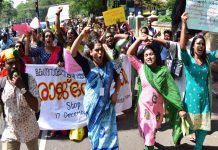 Members of the transgender community staging a protest in Thiruvananthapuram/Photo: UNI