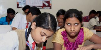 Blind candidates appearing in Maharashtra SSC Board Examination (file picture)/Photo: UNI