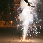 Firecrackers being burned during Diwali/Photo: Anil Shakya