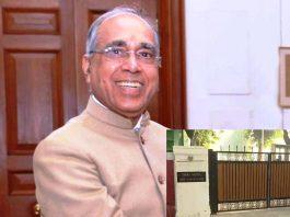 Principal Secretary Nripendra Mishra; (inset) CJI's bungalow