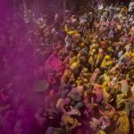 Widows in Vrindavan playing Holi (file picture).