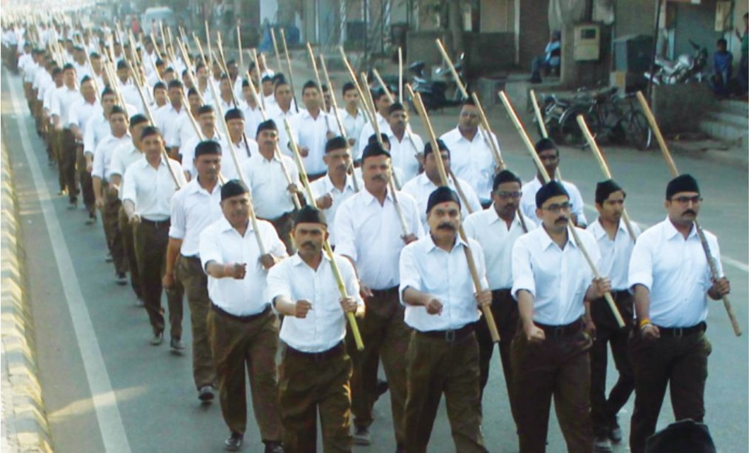 RSS workers at a rally in Ahmedabad (file picture)/Photo: UNI