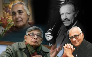 (Clockwise from top left) Renowned historian Romila Thapar, British archaeologist the late Mortimer Wheeler and renowned historian Irfan Habib