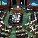 A TV grab of the Lok Sabha