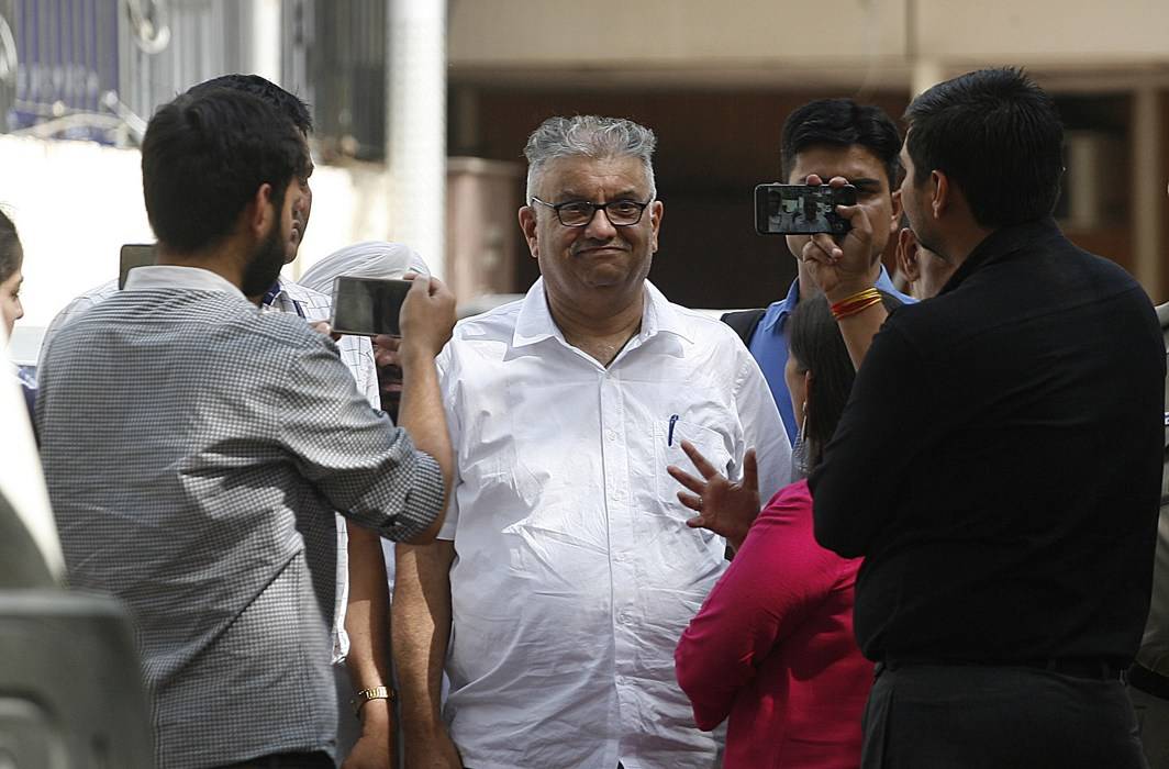 Peter Mukerjea outside Patiala House Court on March 26, 2018/Photo: Anil Shakya