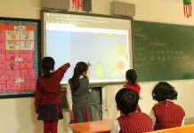 Children in a classroom at a private school in UP. Enrolment of weaker section kids is far from satisfactory