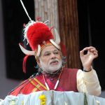 Prime Minister Narendra Modi in traditional Naga gear at the Hornbill Festival in Nagaland/Photo: UNI