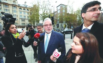 Vijay Mallya at Westminster Magistrates' Court in London. Photo: UNI