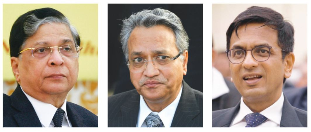 (L to R) The SC bench of Chief Justice Dipak Misra and Justices AM Khanwilkar and DY Chandrachud gave the verdict