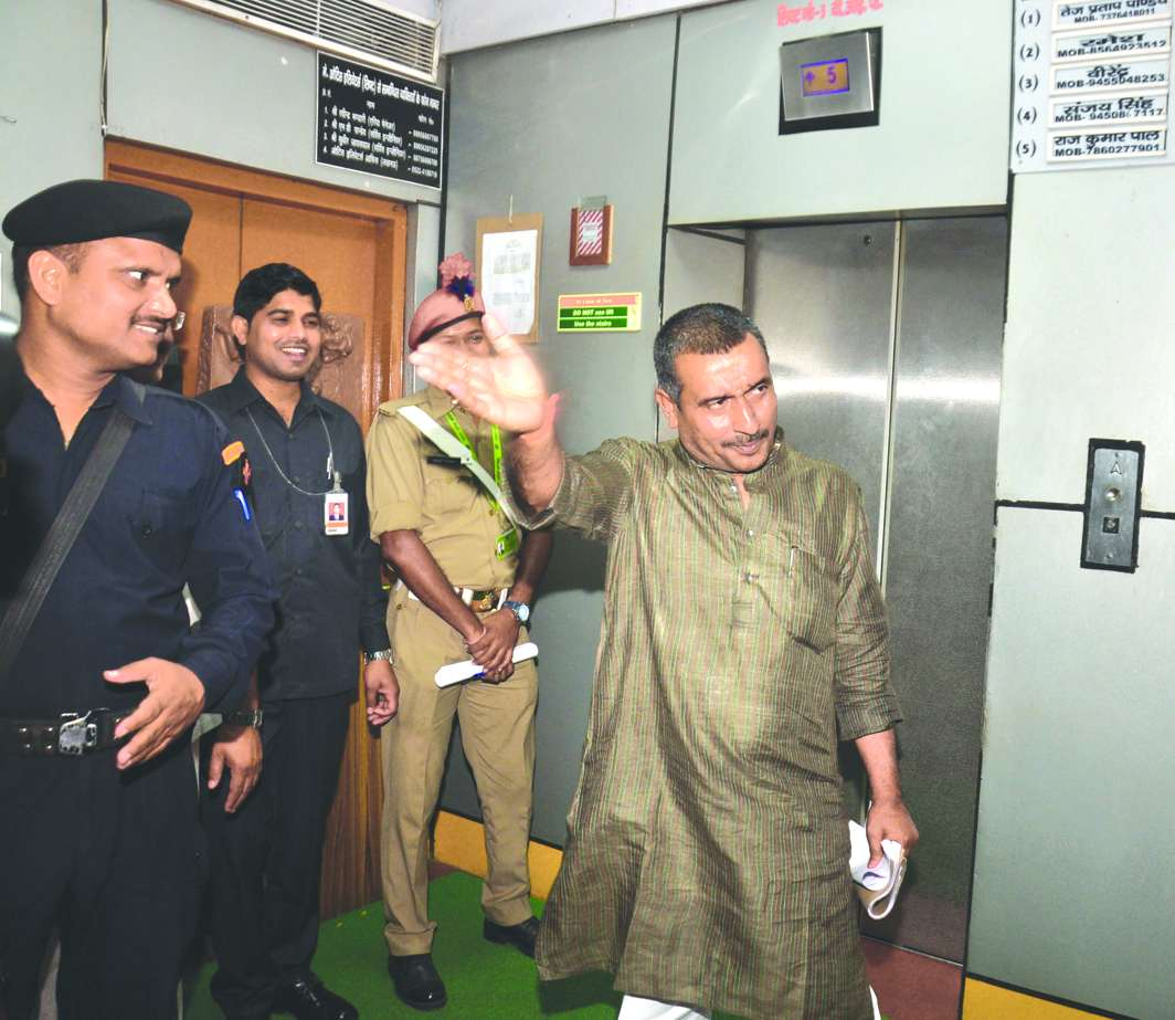 BJP MLA from Unnao Kuldip Singh Sengar arrested for the alleged rape. Photo: UNI