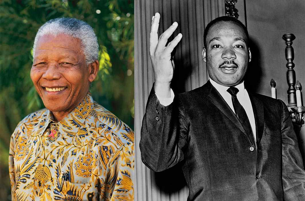 (Left) Nelson Mandela and Martin Luther King