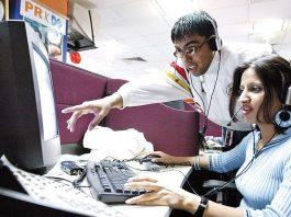 A call centre executive (file photo)