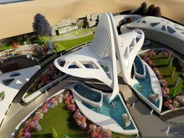 An artist's impression of the proposed Jayalalithaa memorial on Marina Beach/Photo: UNI