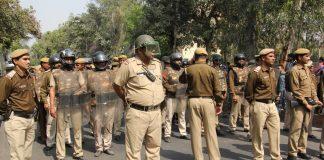 Delhi Police personnel confronting a protest (file picture)/Photo: Bhavana Gaur