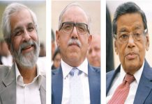 Justice Madan B Lokur, Justice Deepak Gupta and Attorney General KKVenugopal