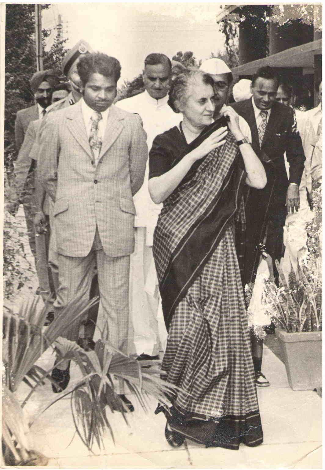 The author, MG Devasahayam, with Mrs Gandhi