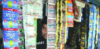 A representative image of a gutka shop. The illicit business of gutka in Tamil Nadu is worth several hundred crores