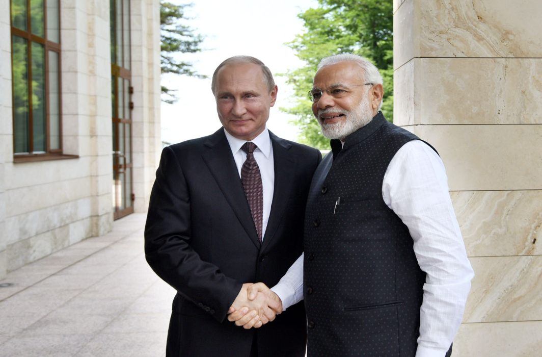 Prime Minister Narendra Modi with Russian President Vladimir Putin in Sochi recently/Photo: PIB