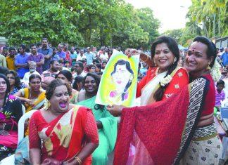 Transgenders at the Queer Cultural Fest in Thiruvananthapuram
