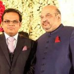 (Left) Jay Shah with father BJP President Amit Shah