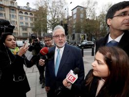 Mallya at the Westminster Magistrates' Court in London