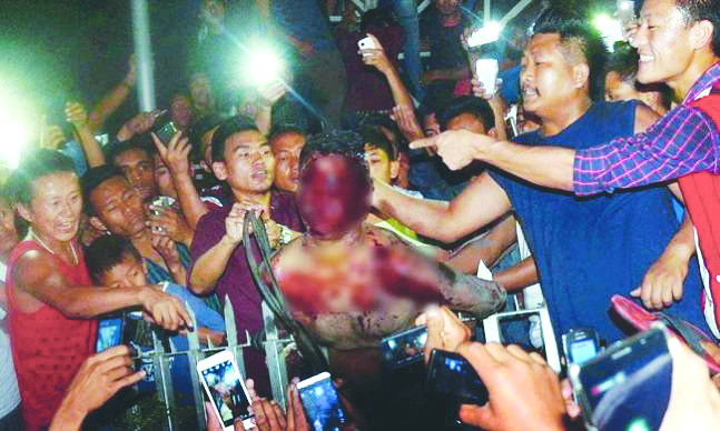 Alleged rapist Syed Farid Khan was taken out of the Central Jail and lynched in Dimapur, in March 2015