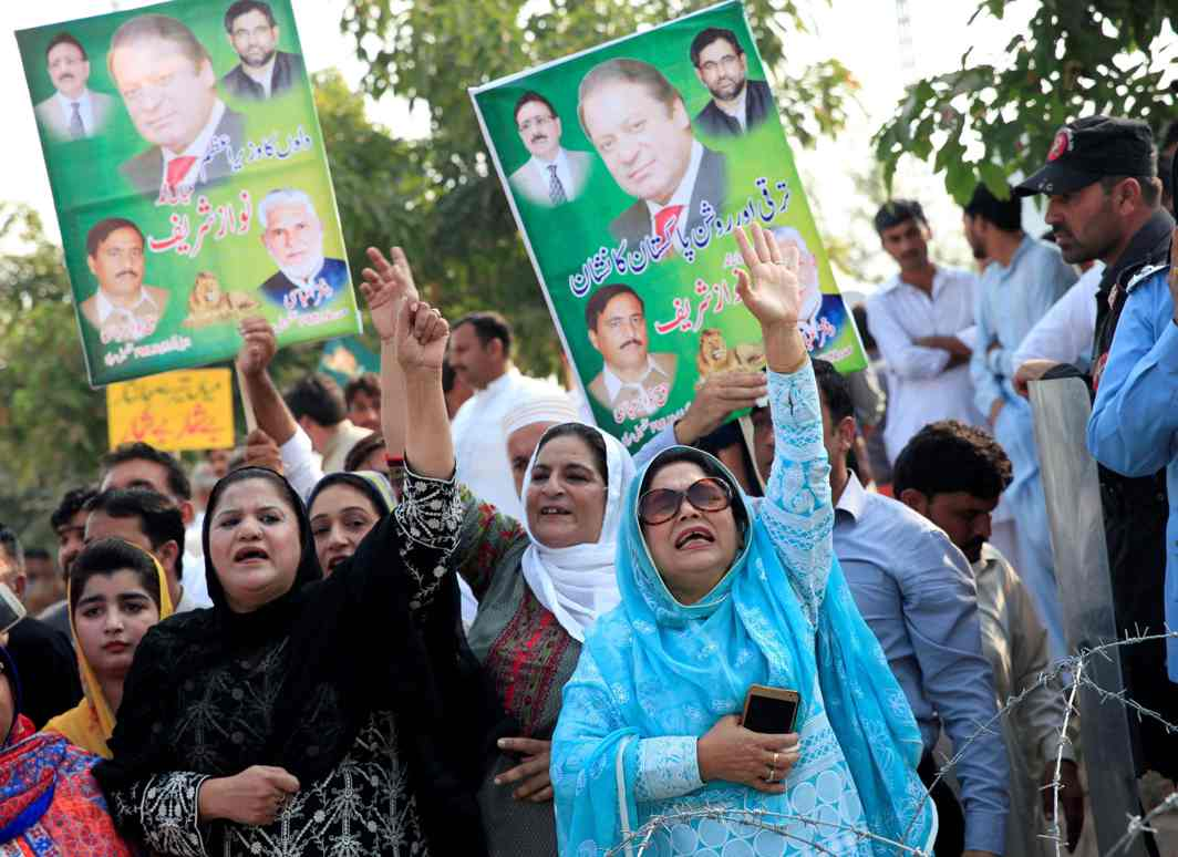 Supporters in Islamabad chant pro-Nawaz Sharif slogans/Photo: Twitter