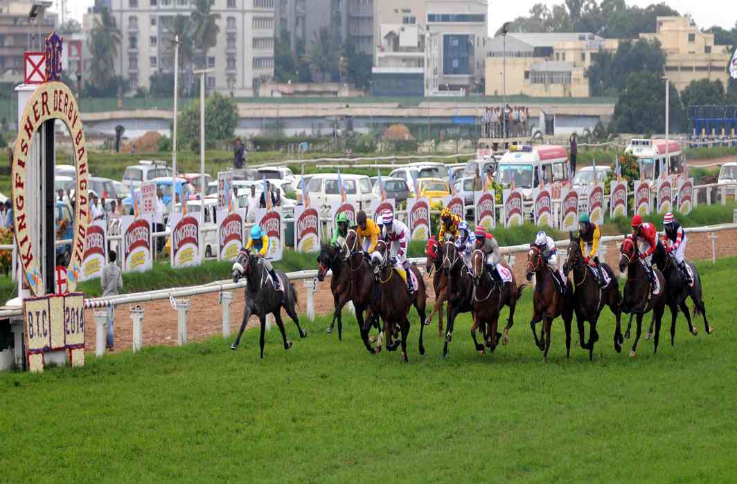 The Kingfisher Bangalore Summer Derby in progress/Photo: UNI