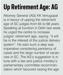 UP Retirement Age: AG