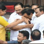 DMK leaders after hearing the Madras High Court verdict in Chennai on Wednesday. Picture courtesy DMK Twitter handle