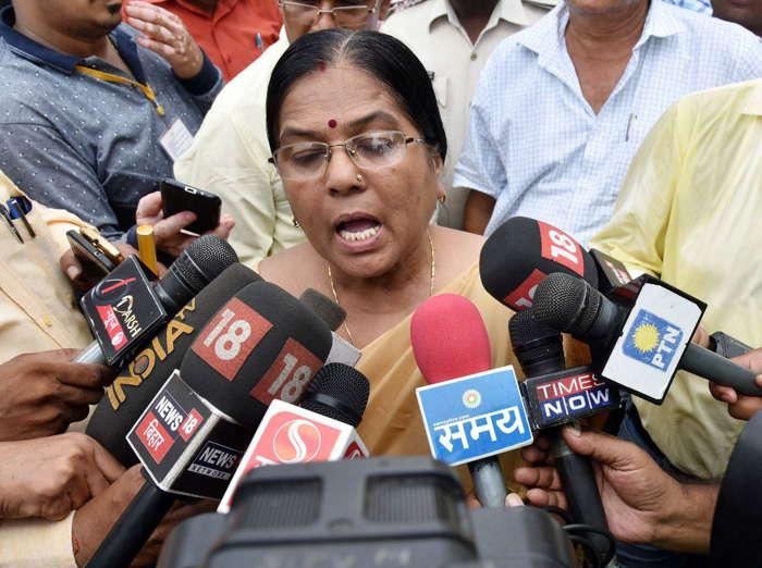 Bihar social welfare minister Manju Verma after resigning over allegations against husband Chandeshwar Verma in the Muzaffarpur case