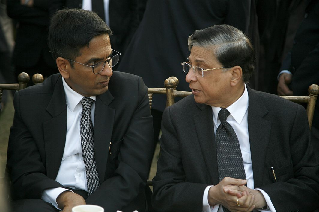 A top court bench of Chief Justice Dipak Misra (left), and Justices AM Khanwilkar and DY Chandrachud (far left) upheld the importance of dissent in politics and society/Photo: Anil Shakya