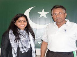 Musharraf with Rajshri Rai at his Dubai apartment