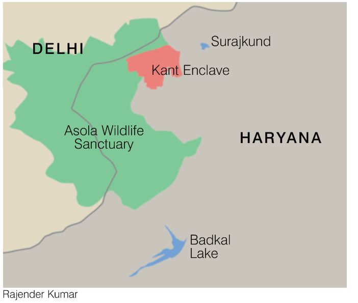 Map showing Kant Enclave location