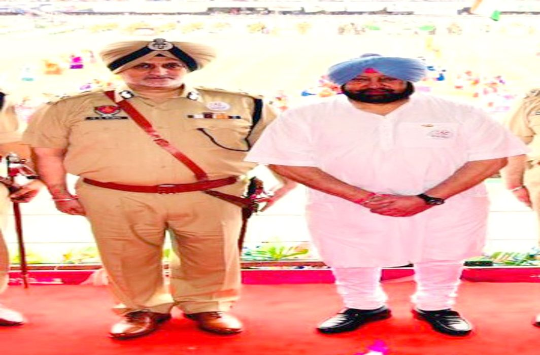 Capt Amarinder Singh and Harpreet Singh Sidhu whom he had handpicked to head the STF