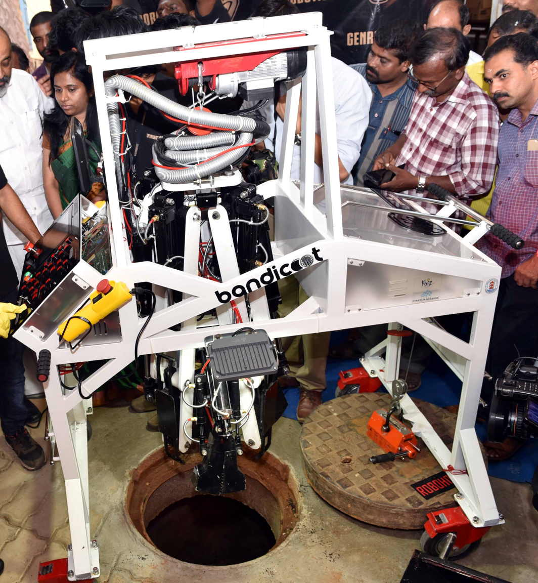 Bandicoot, a sewer-cleaning robot/Photo Courtesy: Kerala government