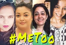 END OF IMPUNITY: Thanks to (from left) Sandhya Menon, Tanushree Dutta, Nasreen Khan, Priya Ramani and a few more good women