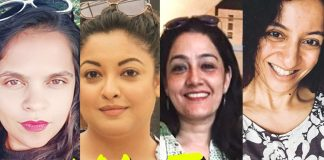 END OF IMPUNITY: Thanks to (from left) Sandhya Menon, Tanushree Dutta, Nasreen Khan, Priya Ramani and a few more good women