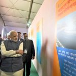 Prime Minister Narendra Modi with the then Uttarakhand Chief Minister Harish Rawat visiting an exhibition during the launch of the Char Dham Rajmarg Vikas Pariyojna, in Dehradun (file picture)/Photo: UNI