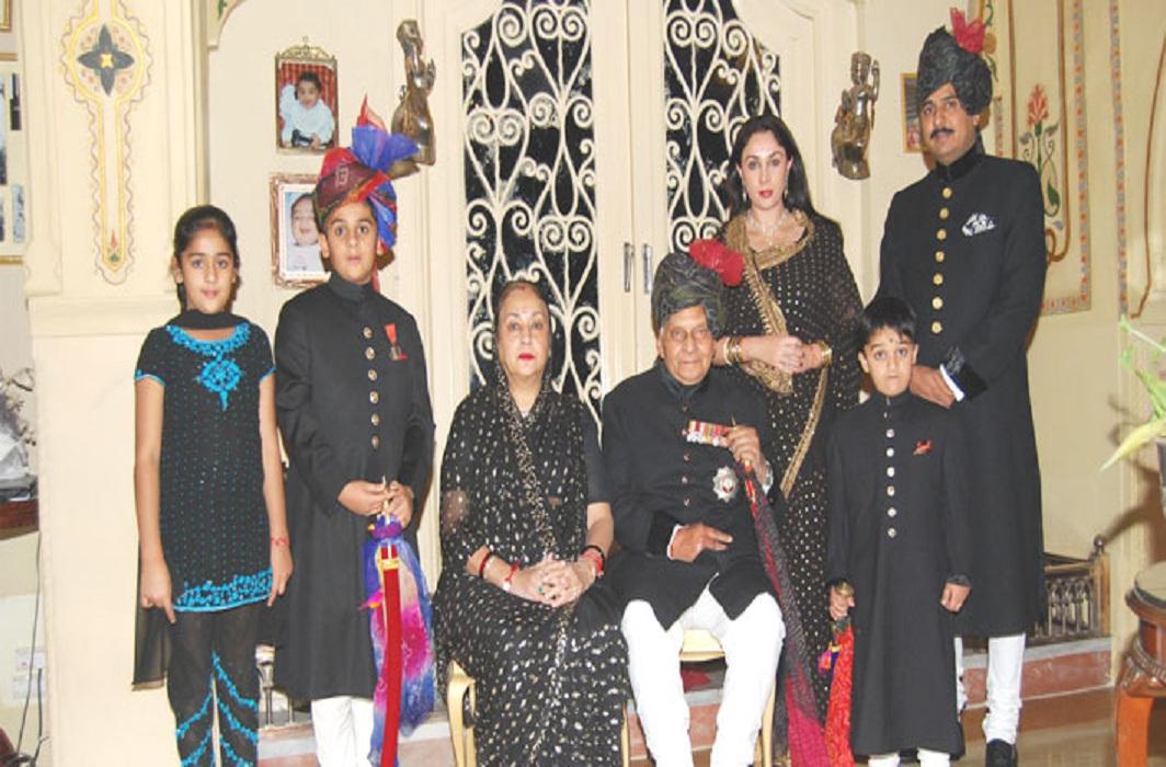 Members of the Jaipur royal family including Diya Kumari and her former husband, Narendra Singh Rajawat/Photo Courtesy: Facebook